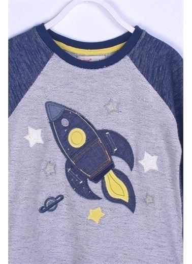 Silversun Kids Sweat Shirt Örme Uzun Kollu Aplik Desen Sweatshirt Erkek Çocuk Js 210303 Lacivert